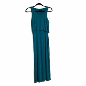 MOSSIMO women's turquoise maxi dress extra small